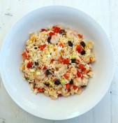 σαλάτα με ρύζι και γαρίδες