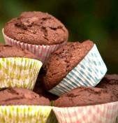 σοκολατένια muffins (με κολοκυθάκι & καρότο)