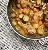 κοτόπουλο με λαχανικά και ginger