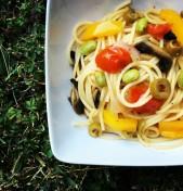 πανεύκολη μακαρονάδα με λαχανικά