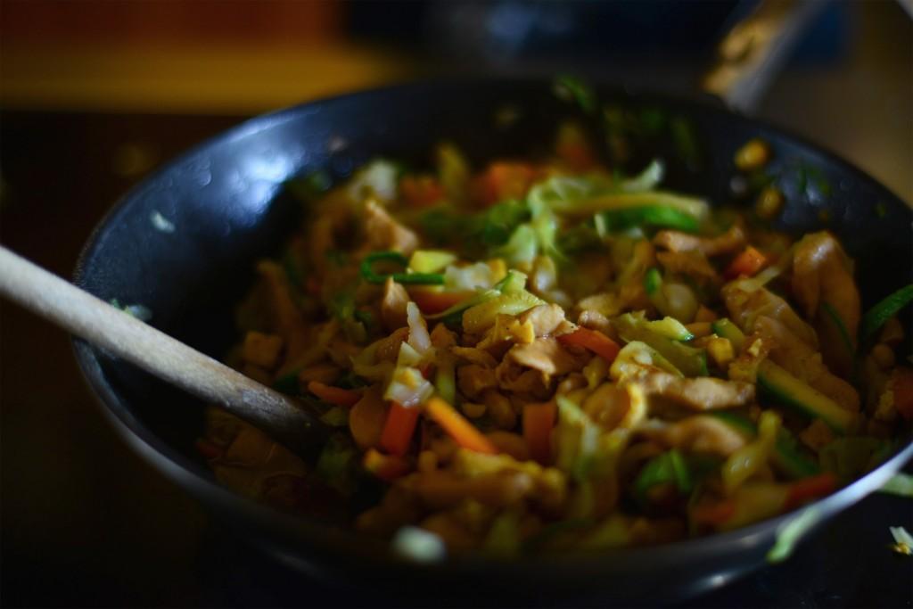 chicken & vegetable stir fry