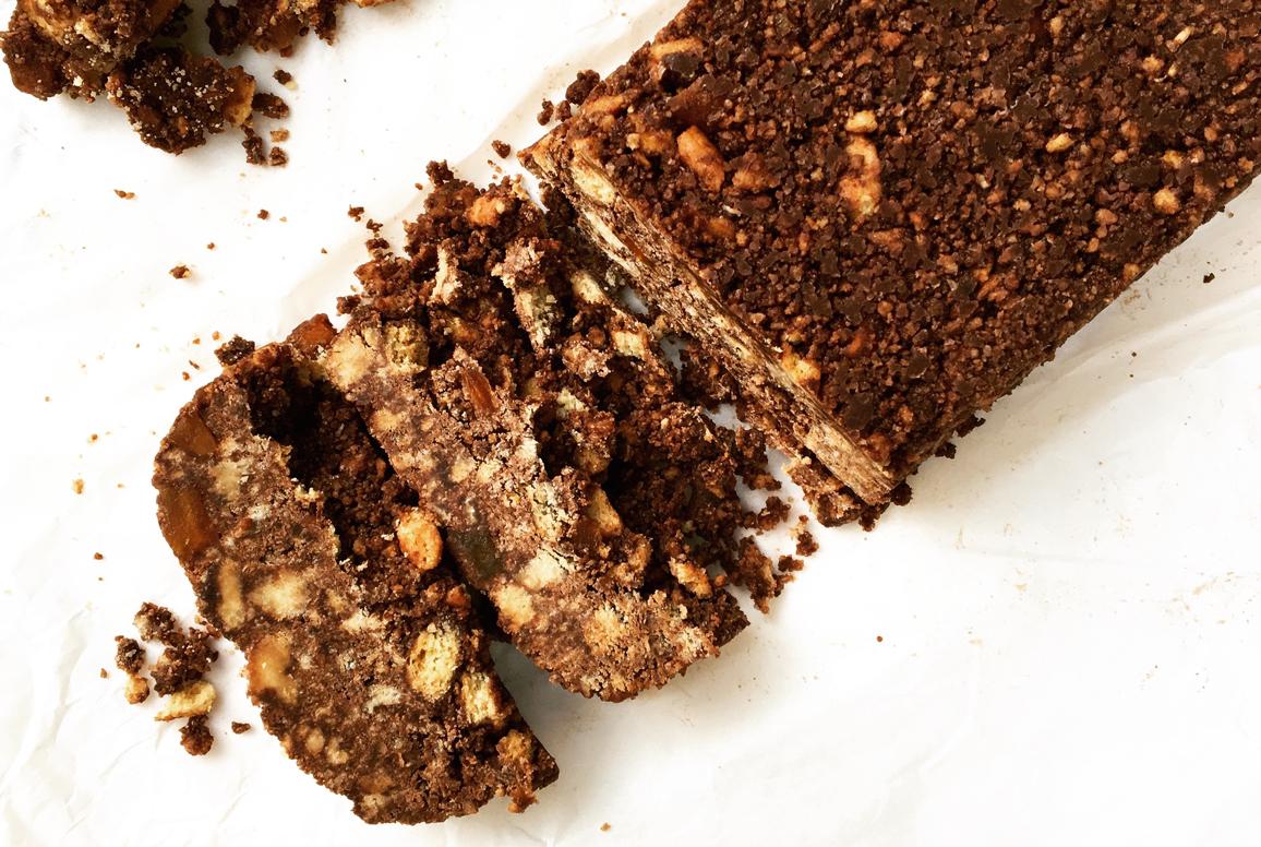 σοκολατένιο cake ψυγείου χωρίς ζάχαρη
