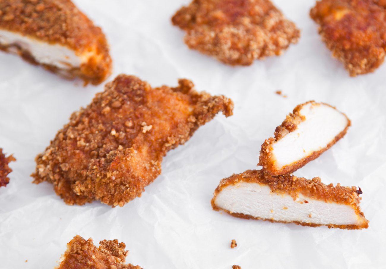 ψητά chicken nuggets με κρυμμένο καρότο
