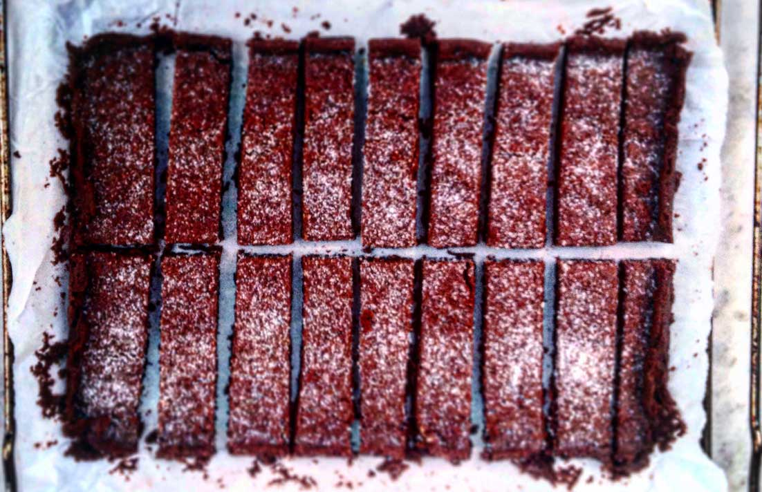 chocolate shortbread fingers