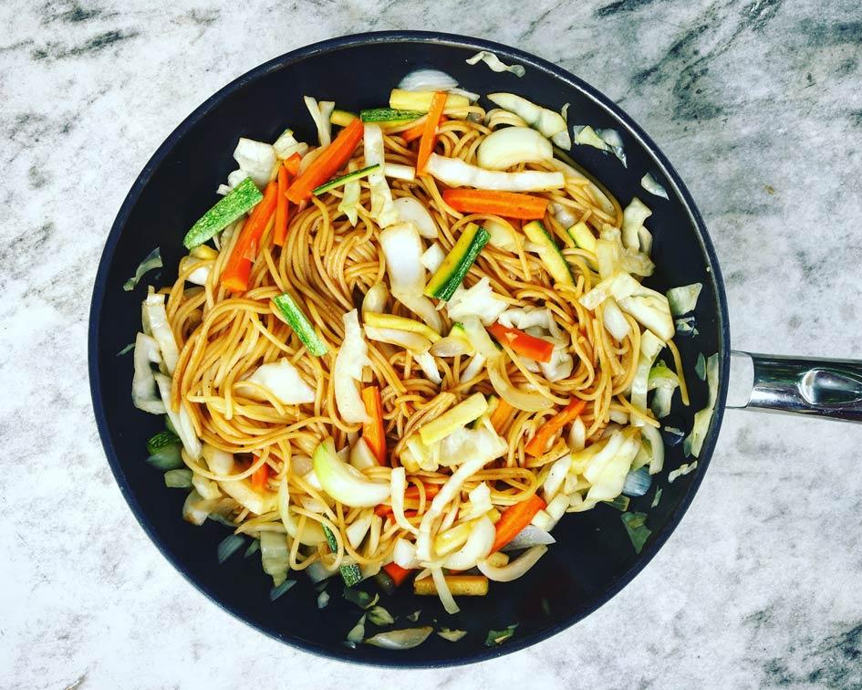 κινέζικο με gluten free spaghetti
