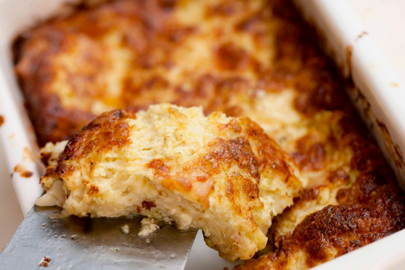 σουφλέ τυριών με μπρόκολο
